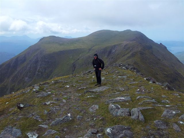 Looking north to Slioch's main summit