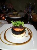 Black Pudding & Goats Cheese starter