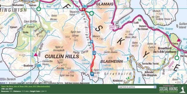 Click on the map to link to Social Hiking interactive route