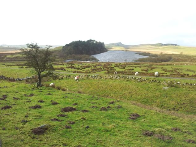 Hadrians Wall lokking to Crag Lough
