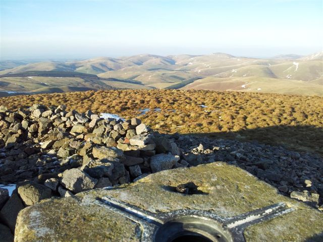 The view north from Windy Gyle on the Scottish border