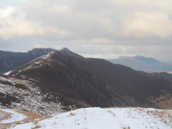 Setting off from Knott Rigg back up to Ard Crags then down to the stream below Causey Pike