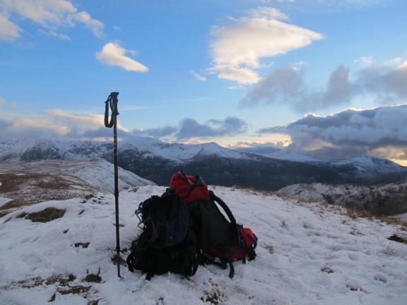 Top of Knott Rigg with an unexpected panorama