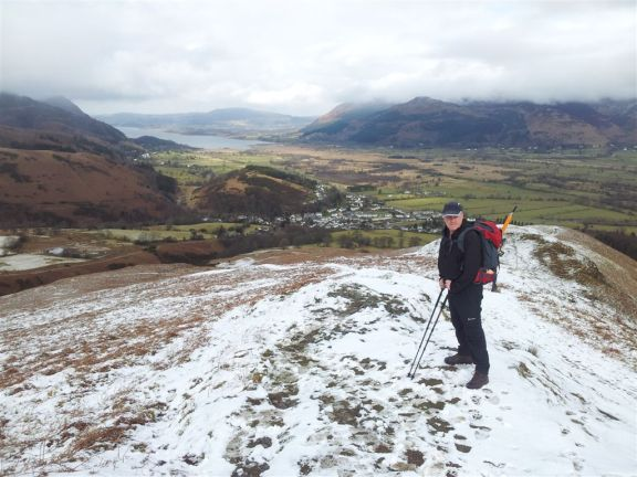 Heading up Barrow 12.30pmiews over Braithwaite, Bassenthwaite & Skiddaw