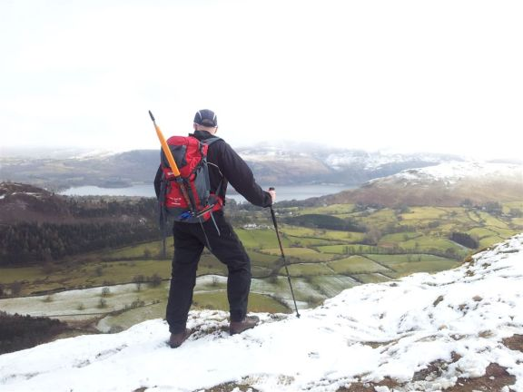 Classic mountain posing (ruining a good view), over to Derwent Water