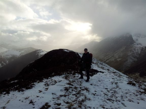 Ard Crags amidst improving weather