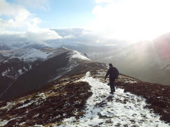 Walking the ridge to Knott Rigg, now this was nice, very nice!