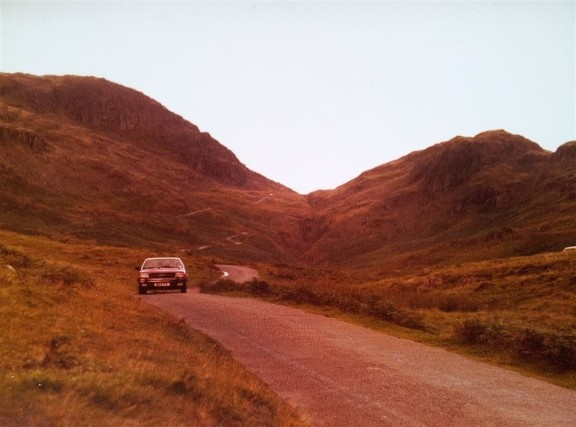 Looking up Hardnott Pass