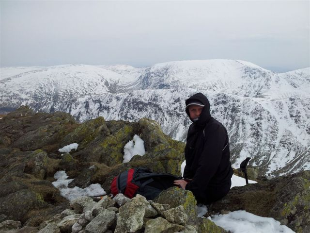 On Kidsty Pike behind me are the days first hills Selside Pike & Branstree