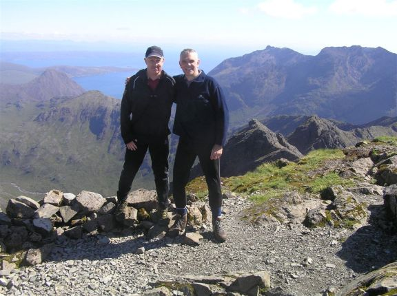 Alan and Me on Bruach na Frith, Cuillins Isle of Skye 2011