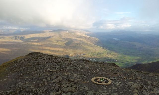 Blencathra Summit View South East with Flowers - 7.50pm