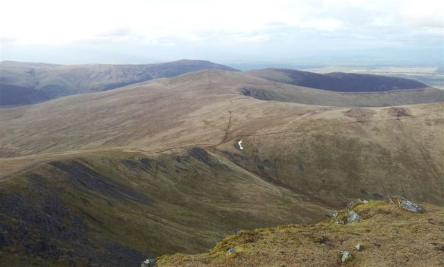 From above Foule Crag NE over Bowscale Fell centre, (Carrock Fell above) - 7.30pm