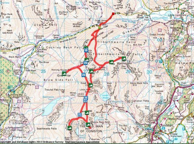 Coniston Route Map