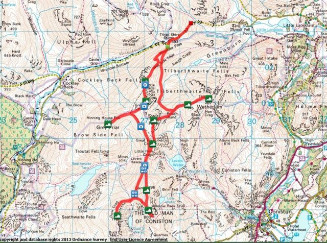 Coniston Route Map