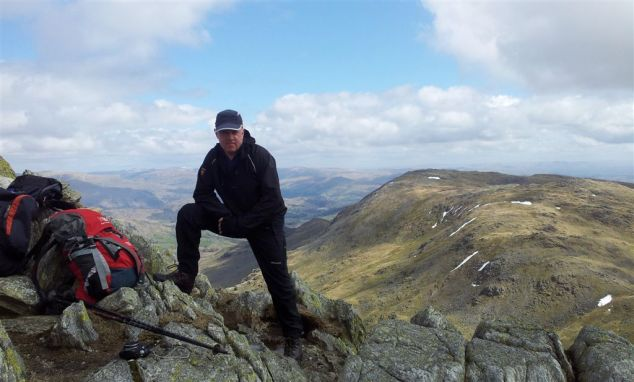 On Great Carrs with Wetherlam right