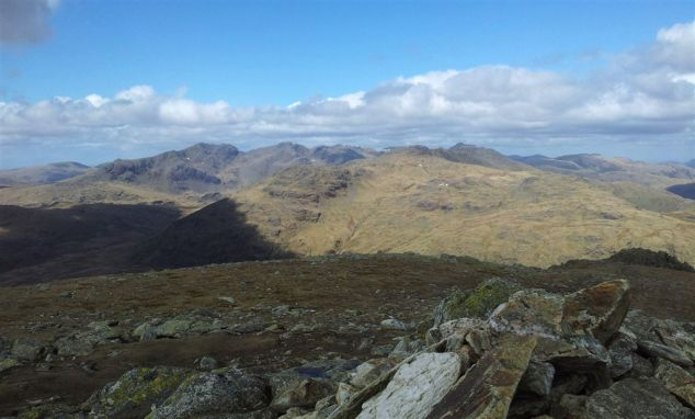 The Sca Fells, Crinkles & Bow Fell from Gt Carrs