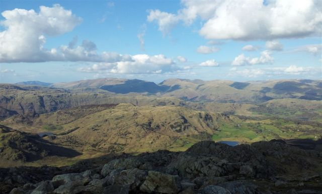 View From Wetherlam to Helvellyn & Fairfield - 5.30pm