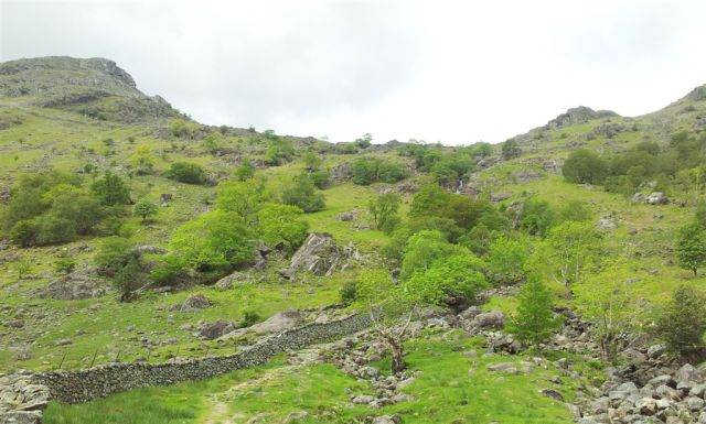 Route up SourmilkGill from Seathwaite Farm