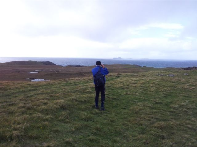 Alan checking out the Outer Islands