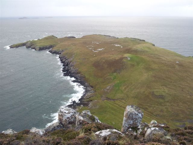 The low headland of Rubha Hunish from near the Lookout