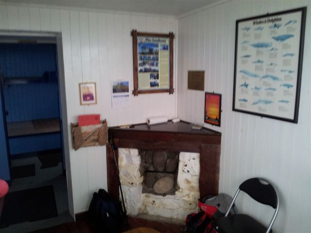 Inside the Lookout, bit blurry, not many places have a Whale & Dolphin wallchart
