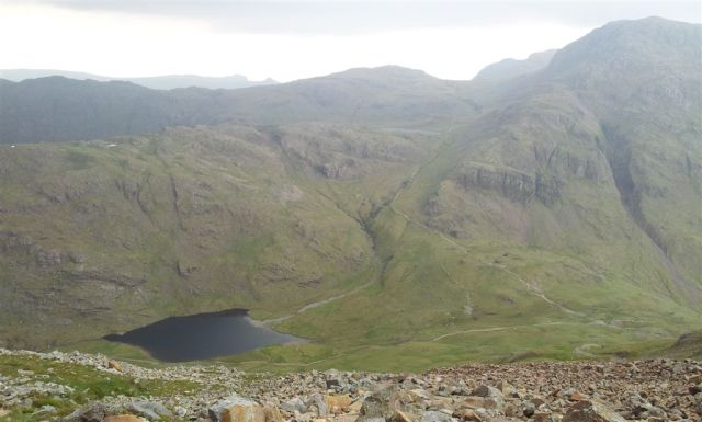 Descending to Sty Head & Sty Head Tarn, nice!