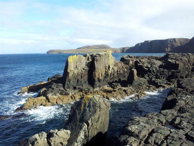 The rocky eastern coast side