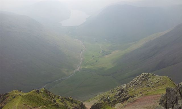 Wasdale, my favourite valley, from Great Gable, it's the dogs doodahs