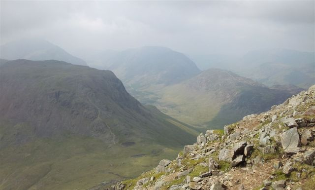 Kirk Fell, Ennerdale, Haystacks & High Crag from near Westmorland Cairn