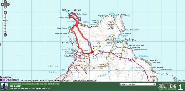 Rubha Hunish Route Map