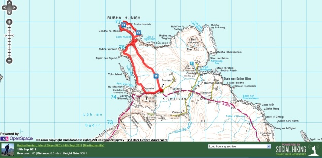 Rubha Hunish Route Map