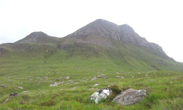 Cul Beag, the route goes straight up to the dip, doesn't seem far