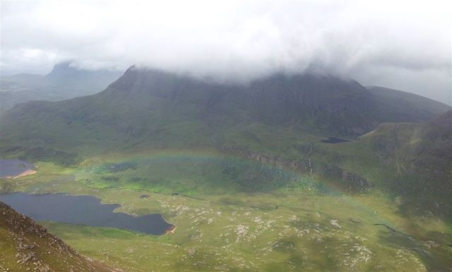 View to right over Cul Mor, Suilven peaking left