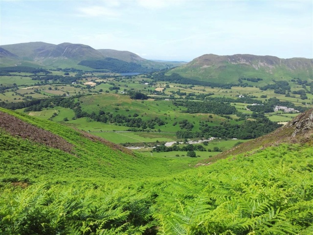 Looking back over the ascent route, Melbreak, Loweswater & Low Fell