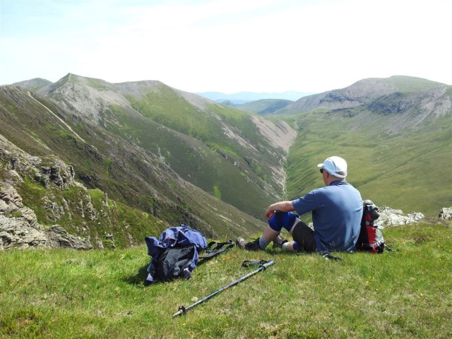 On Whiteside, staring wistfully at Hopegill Head
