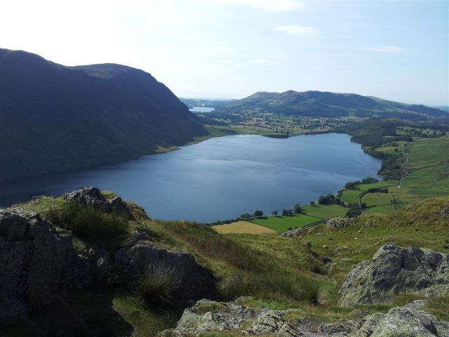 From top of Rannerdale Knotts over Crummock Water