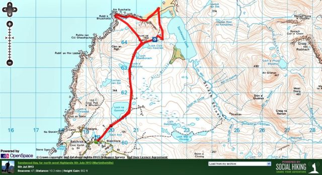 Sandwood Bay Route Map