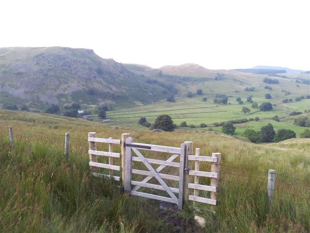 Gate on route back to Dowthwaite Head