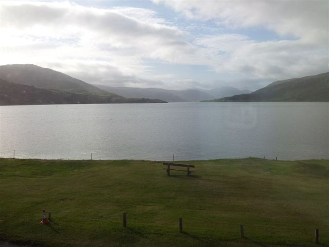 Ullapool guest house view 8am, calmness after 3 days of stormforce winds
