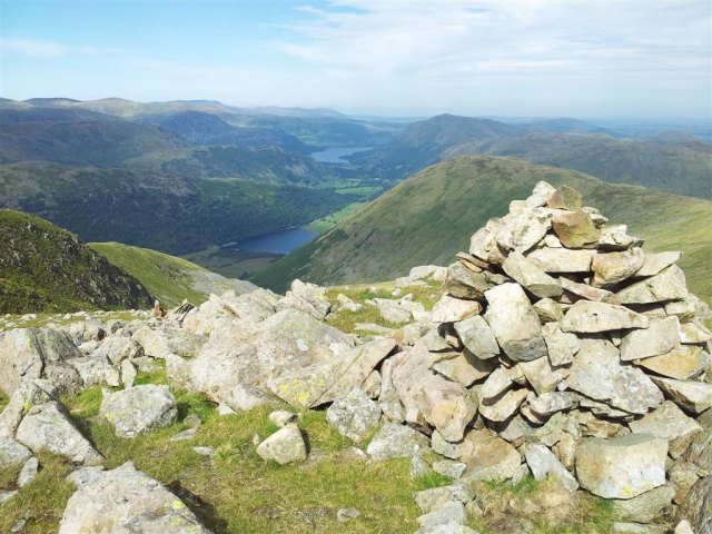 Caudle Head with Hartsop Dodd, Brothers Water & Ullswater behind