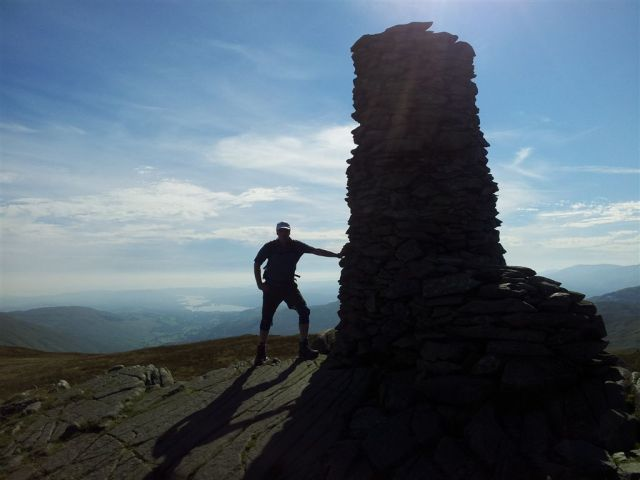 Classic Mountain Posing on Thornthwaite Beacon