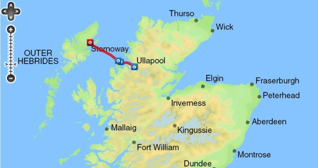 Day trip to Stornoway Route on the Ullapool Ferry