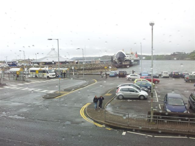 Ferry landing at Stornoway