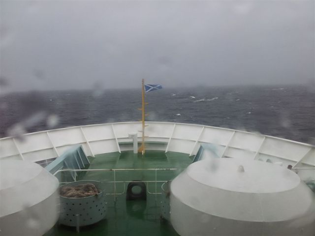 Bit rough out to sea in the Minch