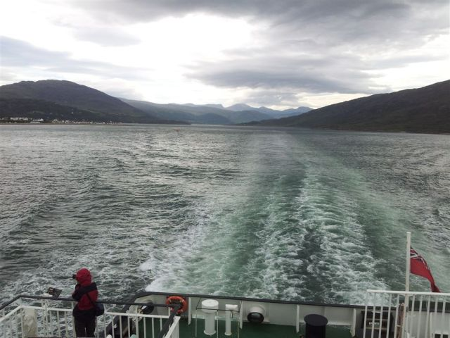 Great Ferry view back to Ullapool & mountains