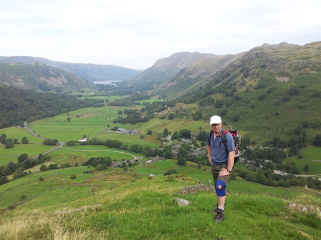 Halfway up Hartsop Dodd, car park to right of my knees