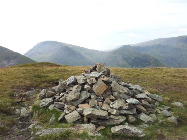 Hartsop Dodd cairn across Kirkstone Pass to Red Screes