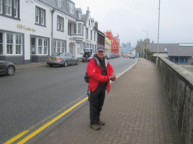 We're here - in Stornoway looking for a nice cuppa tea!