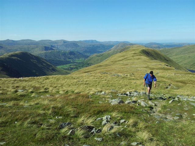 Returning from Gray Crag with Hartsop Dodd to left