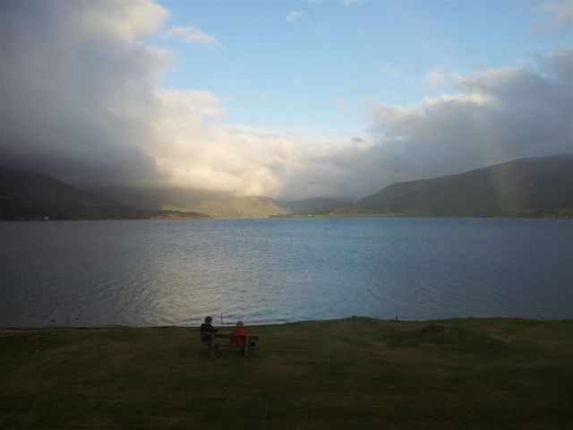 That evening outside our Ullapool Guest House